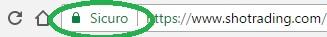 Shotrading sito sicuro certificato Google
